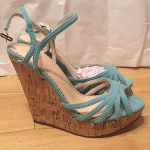 Brand new blue wedges by Madison by Shoedazzle